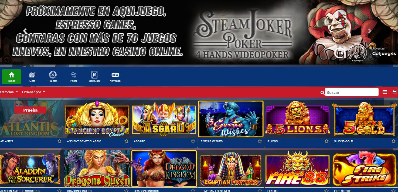 Juegos de casino de AquiJuego