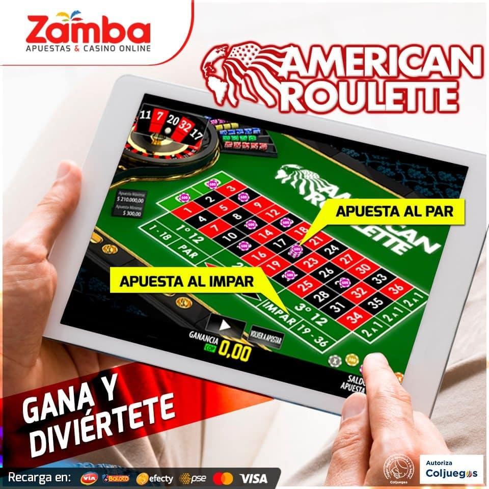 Ruleta en Zamba casino