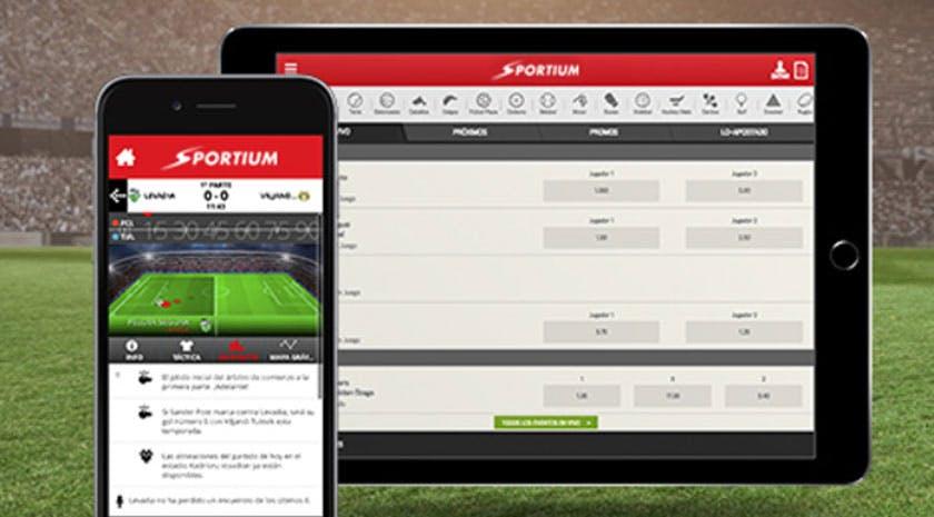 Aplicacion movil de Sportium