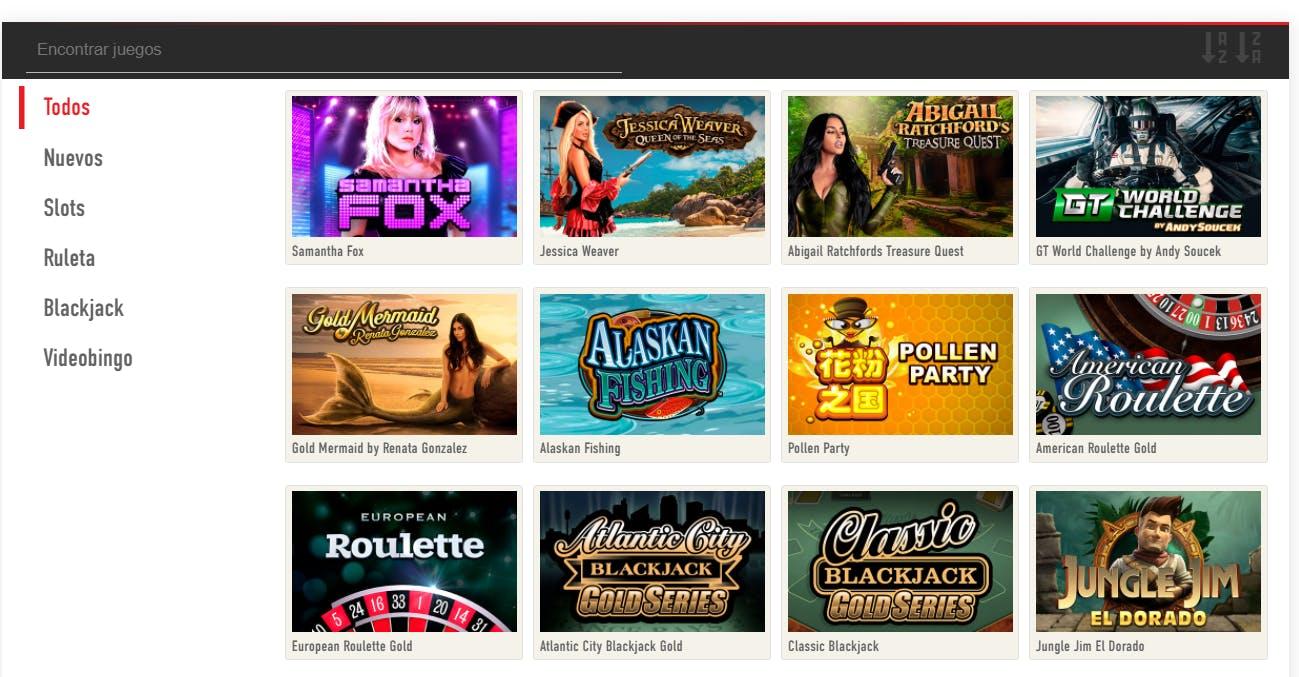 Juegos de casino de Sportium